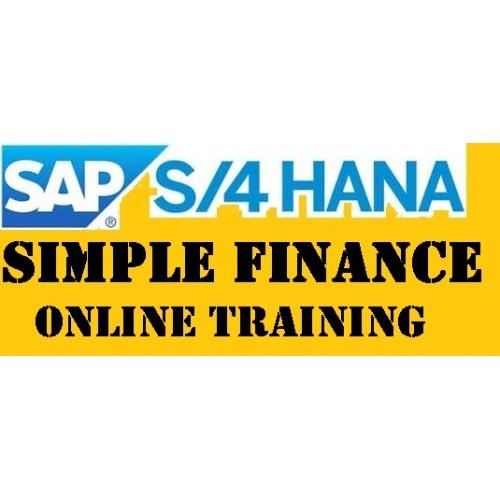 SAP S/4 HANA SIMPLE FINANCE 1610 LIVE TRAINING CERTIFICATION COURSE